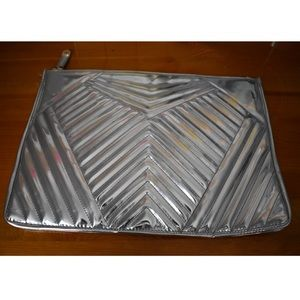 Metallic Silver Clutch Bag